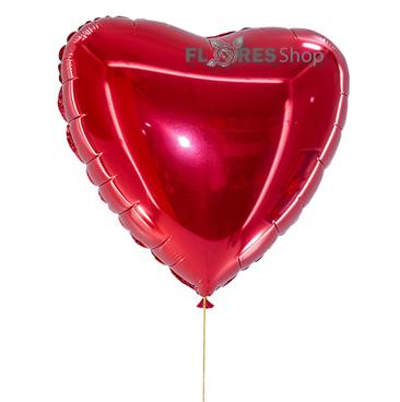 1722 Coração Metalizado Médio