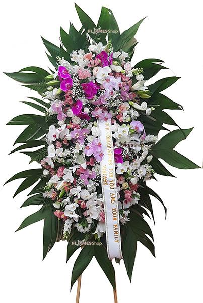 3018 Coroa super luxo Orquídeas