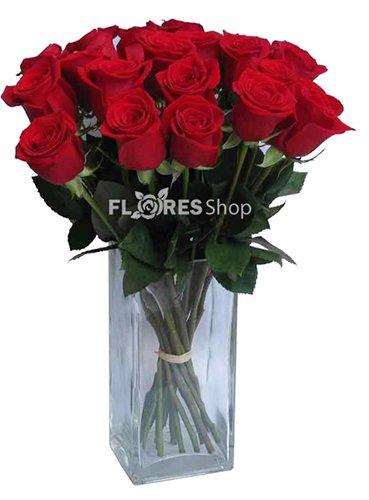 370 Buquê Rosas no Vaso