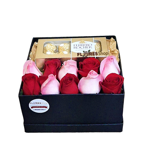 3765  Sweet Flower Box - Red & Pink