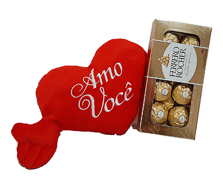 3981 Coração PP E Ferrero Rocher 8 und.