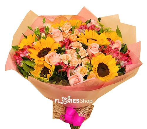 4841 Minha princesa, buquê com flores mistas