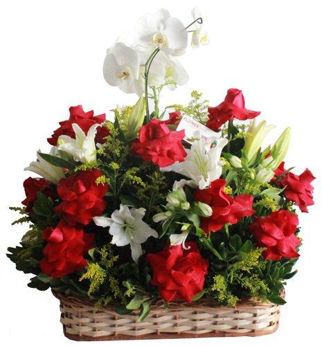 487 Cesta Orquídeas, Rosas e Lírios