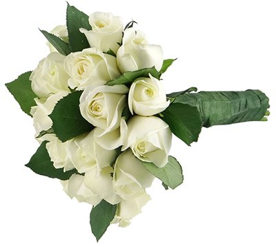 631 Buquê de Noiva Rosas Brancas II