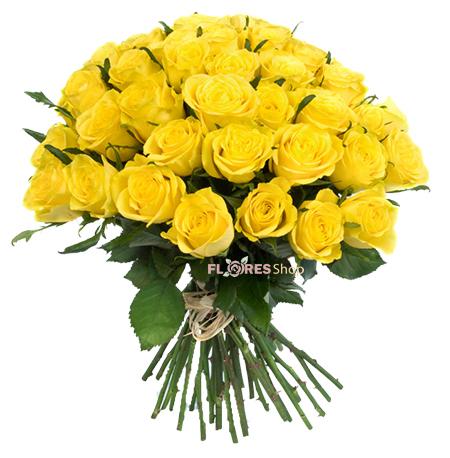 632 Buquê 50 Rosas Amarelas